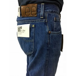 LEE 101 jeans uomo mod RIDER colore stone washed L96681GH con zip 100% cottone