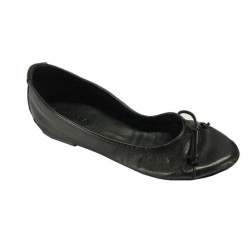 Kudéta black women's ballerina shoe 100% leather MADE IN ITALY