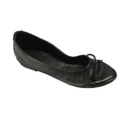 KUDETA' scarpa donna ballerina nero 100% pelle MADE IN ITALY