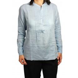 ASPESI camicia donna celeste manica lunga mod H702 C195 100% lino