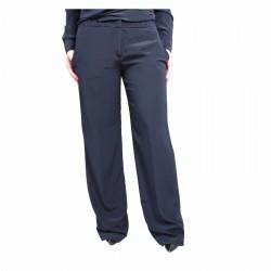 ASPESI pantalone donna largo blu mod H113 B753