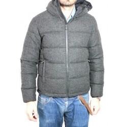 ASPESI piumino mod. Axe Hood I4I 7149 9345 antracite 100% lana Made in Italy