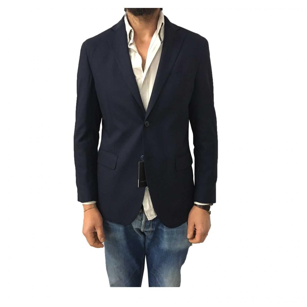new concept 95876 b49c5 LUIGI BIANCHI MANTOVA giacca uomo blu sfoderata 100% lana ...