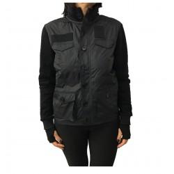 2SHIRTS.AGO black short jacket mod model I7CHP2FLE36WS9999 bimaterial MADE IN ITALY