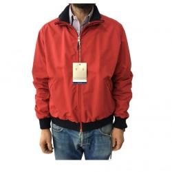 FLY3 giubbino uomo rosso foderato righe bianco/blu 100% nylon interno 100%cotone