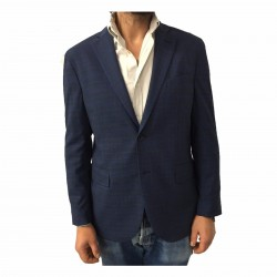 LUIGI BIANCHI MANTOVA men's jacket unveiled Prince of Galles Blue