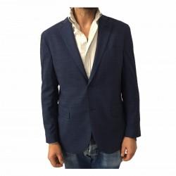 LUIGI BIANCHI MANTOVA men's jacket unveiled Prince of Galles Blue