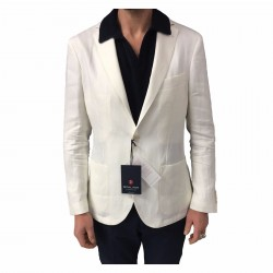 ROYAL ROW men's unlined jacket mod LONDON G90S slim fit 100% linen