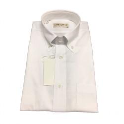 ICON LAB 1961 camicia uomo mezza manica bianco fiammato cotone vest. regolare