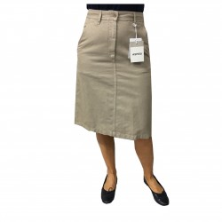 ASPESI high waist woman skirt H507 F207 61% cotton 39% linen MADE IN ITALY