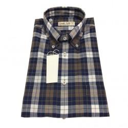 ICON LAB 1961 camicia uomo mezza manica quadri blu/moro/bianco regular fit