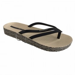 IPANEMA beige / black woman flip-flop 82064 BOSSA MADE IN BRAZIL