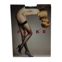 FALKE calza donna autoreggente con riga nero mod 42084 74% poliammide 26%elastan