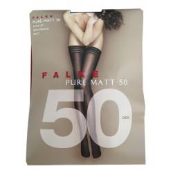 FALKE calza autoreggente nero 50 den PURE MATT 50 91% poliammide 9% elastan