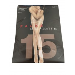 FALKE calza donna da reggicalze nera con bordo pizzo 15 den 89% poliammide 11% elastan