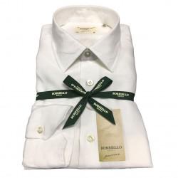 BORRIELLO NAPOLI shirt white man 100% linen MADE IN ITALY