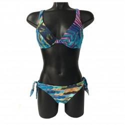 MISS BIKINI DE LUXE costume bikini push-up donna mod 1748C/RIAZ 74% poliammide