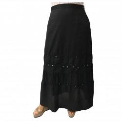 ELENA MIRÒ black long skirt 100% cotton