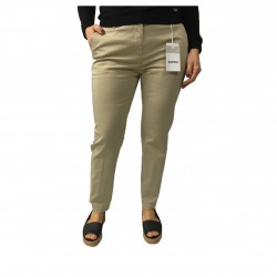 ASPESI beige trousers H405 mod women 98% cotton 2% elastane