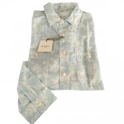 M.I.D.A camicia uomo manica lunga fantasia 100% cotone JAPAN FABRIC