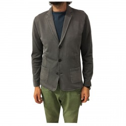 ALPHA STUDIO men's jacket jumper jacket, gray faded model AU-5022ES 100% cotton slim fit