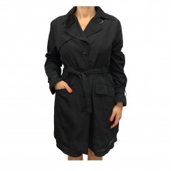 ELENA MIRÒ waterproof trench black woman 100% polyester