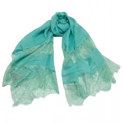 MUTIYAAR seawater woman's scarf with lace in color MADE IN INDIA