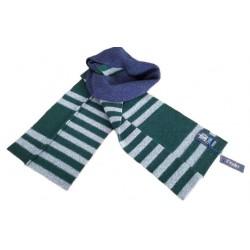 DRAKE'S LONDON sciarpa uomo blu/verde/grigio 100 %lana MADE IN SCOTLAND