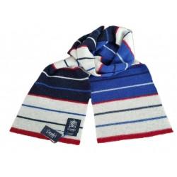 DRAKE'S LONDON sciarpa uomo blu/rosso/azzurro/bianco 100 %lana MADE IN SCOTLAND