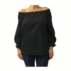 LA FEE MARABOUTE shirt woman black 98% cotton MADE IN ITALY