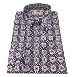 ICON LAB 1961 camicia uomo fantasia 100% cotone leggero