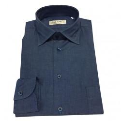 ICON LAB 1961 camicia uomo con taschino colore denim
