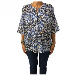 MY SUNDAY MORNING woman shirt mod BEAUTY 100% cotton MADE IN FRANCE