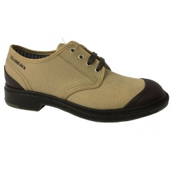 Pezzol 1951 men's shoe in beige canvas and rubber mod MONSTER 014FZ-51