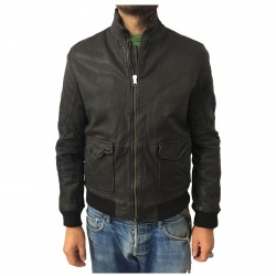 D'AMICO brown man jacket mod. HORNET DGU0246
