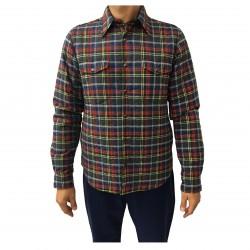 ASPESI giacca camicia uomo reversibile quadri/blu mod CE26 F815 HIGHLAND MADE IN ITALY
