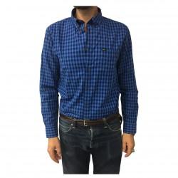 LEE camicia uomo quadri azzurro/blu mod L882BQDK 100% cotone