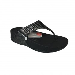FIT FLOP woman flip flop black with applications mod NOVY BLACK A63-090