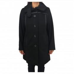 PERSONA by Marina Rinaldi black woman jacket with RASOI leatherette inserts