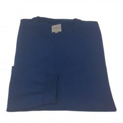 CA' VAGAN man light blue sweater 100% cotton