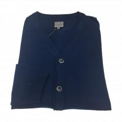 CA' VAGAN man light blue cardigan 100% cotton