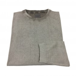 CA' VAGAN man gray printed sweater 100% cotton