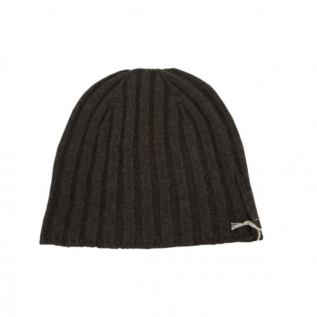 DELLA CIANA man's hat, ribbed, dark, 100% cashmere 2/28 MADE IN ITALY