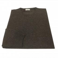FERRANTE maglia uomo girocollo marrone melange 100% cashmere TODD & DUNCAN MADE IN ITALY