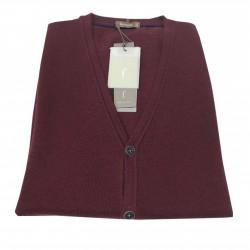 FERRANTE bordeaux men's vest 100% wool MADE IN ITALY regular fit