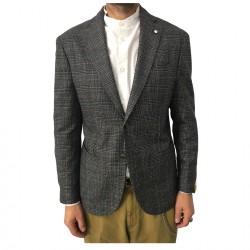 L.B.M 1911 giacca lana uomo principe di Galles nero/grigio/moro 2887