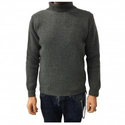 GRP man sweater gray 100% wool MADE IN ITALY