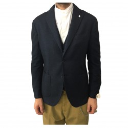 L.B.M 1911 giacca uomo blu mélange 45% cotone 40% lana 15%poliammide 2837