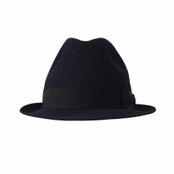 BORSALINO man blue hat 100% feltro wool mod 490029 MARENGO MADE IN ITALY