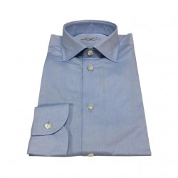 BRANCACCIO 100% cotton light blue shirt